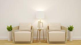 Projeto limpo da sala de visitas ou da cafetaria - rendição 3D Imagem de Stock Royalty Free