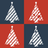 Projeto liso da árvore de Natal Imagem de Stock