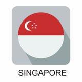 projeto liso da bandeira nacional, bandeira de Europa, bandeira asiática Fotografia de Stock Royalty Free