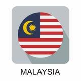 projeto liso da bandeira nacional, bandeira de Europa, bandeira asiática Imagens de Stock Royalty Free