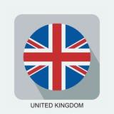 projeto liso da bandeira nacional, bandeira do mundo, bandeira do asiático de Europa Imagens de Stock