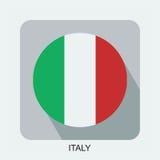 projeto liso da bandeira nacional, bandeira do mundo, bandeira do asiático de Europa Imagem de Stock