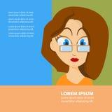 Projeto liso da cara da mulher Imagem de Stock