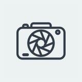 projeto liso da fotografia, projeto do fotógrafo, projeto da câmera do tiro, projeto da lente Fotografia de Stock Royalty Free
