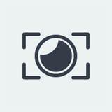 projeto liso da fotografia, projeto do fotógrafo, projeto da câmera do tiro, projeto da lente Imagem de Stock