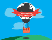 Projeto liso da ilustração do balão do vetor Fotos de Stock