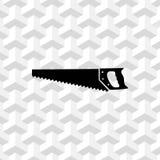 Projeto liso da ilustração do vetor do estoque do ícone do serrote Imagens de Stock Royalty Free
