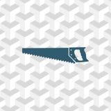 Projeto liso da ilustração do vetor do estoque do ícone do serrote Fotos de Stock