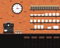 Projeto liso da textura interior do tijolo da cafetaria Imagem de Stock Royalty Free
