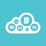 Projeto liso de computação do conceito da nuvem Fotografia de Stock
