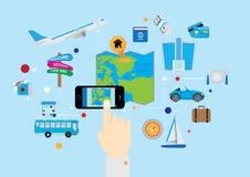 Projeto liso de GPS do feriado Imagens de Stock