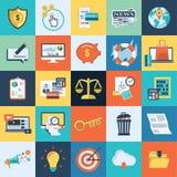 Projeto liso de 25 SEO Icons colorido Fotos de Stock Royalty Free