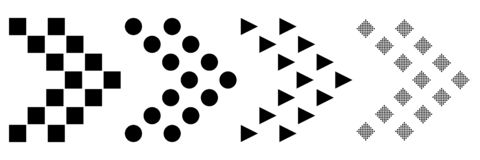 Projeto liso de um grupo de ícones das setas em um fundo branco Ilustra??o do vetor Oferta mega super para sites e ilustração royalty free