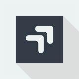 projeto liso do ícone da seta, botão da seta Imagens de Stock Royalty Free