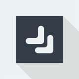 projeto liso do ícone da seta, botão da seta Fotos de Stock