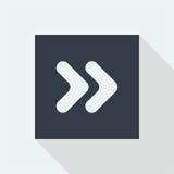 projeto liso do ícone da seta, botão da seta Imagem de Stock Royalty Free