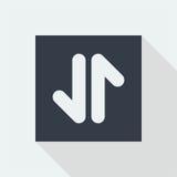 projeto liso do ícone da seta, botão da seta, Imagens de Stock Royalty Free
