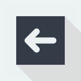projeto liso do ícone da seta, botão da seta, Foto de Stock Royalty Free
