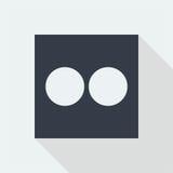 projeto liso do ícone do botão da tecnologia, ícone do projeto da música do estúdio Foto de Stock Royalty Free
