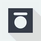 projeto liso do ícone do botão da tecnologia, ícone do projeto da música do estúdio Imagem de Stock Royalty Free