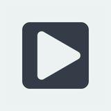 projeto liso do ícone do rádio da música do botão do jogo Fotografia de Stock
