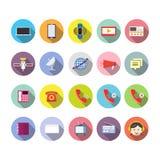 Projeto liso do ícone dos meios da tecnologia de comunicação, sinal global da conexão dos trabalhos em rede ilustração do vetor