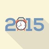 Projeto 2015 liso do cartão Imagens de Stock