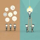 Projeto liso do conceito da cooperação dos homens de negócios Imagens de Stock
