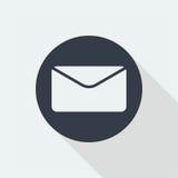 projeto liso do envelope, projeto do email, ícone do projeto do correio Foto de Stock Royalty Free
