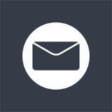 projeto liso do envelope, projeto do email, ícone do projeto do correio Fotografia de Stock Royalty Free
