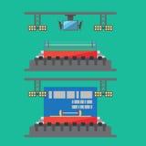 Projeto liso do estádio do esporte ilustração royalty free