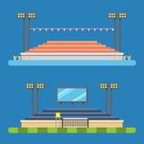 Projeto liso do estádio do esporte ilustração do vetor