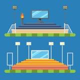 Projeto liso do estádio do esporte ilustração stock