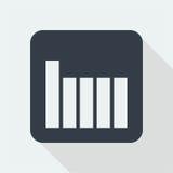 Projeto liso do gráfico projeto da matemática Fotografia de Stock Royalty Free