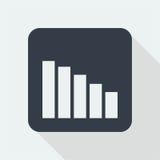 Projeto liso do gráfico projeto da matemática Imagens de Stock