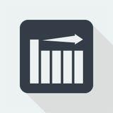 Projeto liso do gráfico projeto da matemática Fotografia de Stock