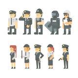 Projeto liso do grupo da polícia ilustração do vetor