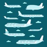 Projeto liso do grupo do avião ilustração stock