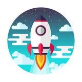 Projeto liso do lançamento de Rocket Ilustração do vetor ilustração do vetor