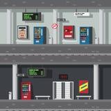 Projeto liso do metro subterrâneo ilustração stock