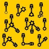 projeto liso do pistão, projeto liso do ícone da Web Imagem de Stock