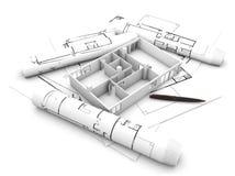 Projeto liso do plano ilustração do vetor