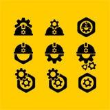 projeto liso do tampão de segurança, projeto liso do ícone da Web Foto de Stock Royalty Free