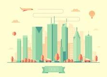 Projeto liso do vetor da arquitetura da skyline de Toronto Foto de Stock Royalty Free