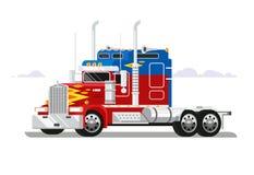 Projeto liso dos camionistas de Fura ilustração stock