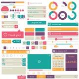 Projeto liso dos elementos, grupo do ui Vetor Imagem de Stock