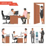 Projeto liso dos executivos e dos trabalhadores de escritório Foto de Stock