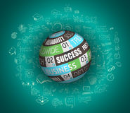 Projeto liso e conceitos tirados mão para o sucesso comercial Imagens de Stock Royalty Free