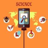 Projeto liso infographic da ciência Imagens de Stock