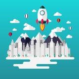 Projeto liso infographic Startup Ilustração do vetor ilustração do vetor